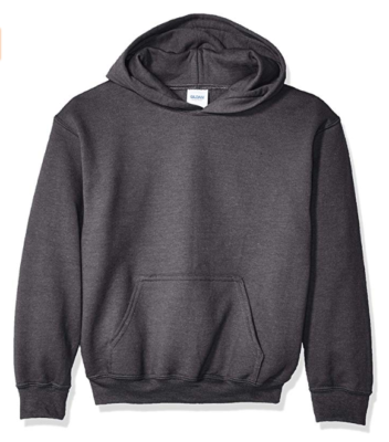 This is an image of a dark heather sweatshirt for men.