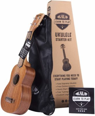 This is an image of a soprano ukulele starter kit.