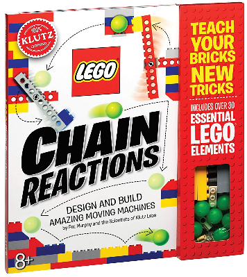 This is an image of kid's lego chain reactions science building kit