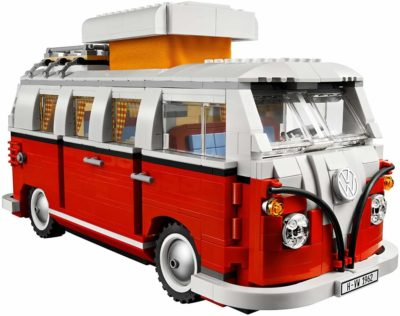 This is an image of a camper van construction set for men designed by LEGo.