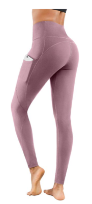 This is an image of a lilac pink workout leggings for teens.