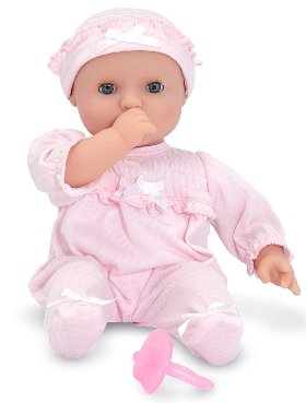 This is an image of kid's Melissa & Doug Mine to Love doll