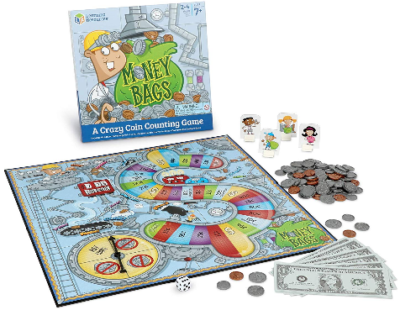 This is an image of kid's money bags board game