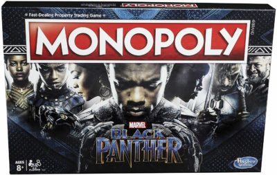 This is an image of a Black Panther Monopoly board game.
