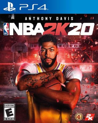This is an image of a men's PS4 NBA 2K20 game.