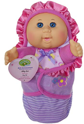 This is an image of kid's Newborn Baby Doll Girl in pink and purple color