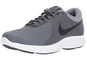 This is an image of a grey running shoes for men by Nike.