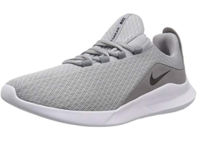 This is an image of a wolf grey running shoe for teenage boys.
