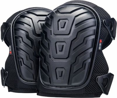 This is an image of a black knee pads for teens.