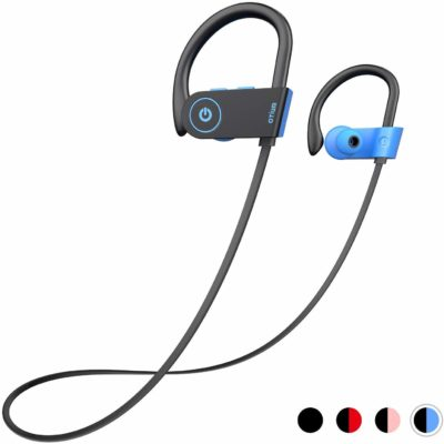 This is an image of a sky blue wireless headphones.