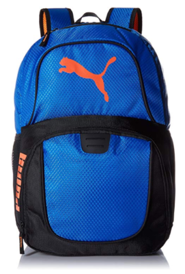 This is an image of a deep blue men's backpack.