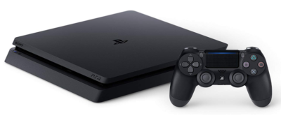 This is an image of a PlayStation 4 console with 1 TB hard drive.