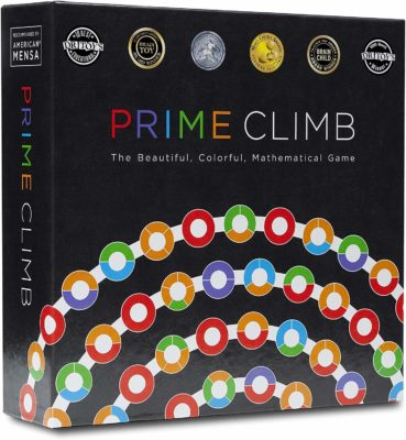 This is an image of a mathematical game called Prime Climb for 12 year old kids.