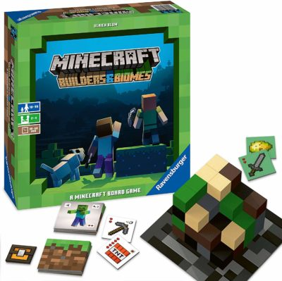 This is an image of a Minecraft strategy board game for 12 year old kids.