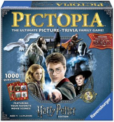 This is an image of a Pictoria picture and trivia board game in Harry Potter edition.