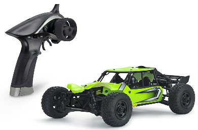 This is an image of kid's SGOTA RC Car 1/18 Scale in green color
