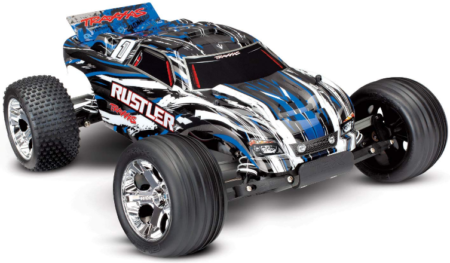 This is an image of kid's scale rustler 2WD stadium truck