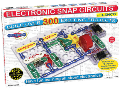 This is an image of kid's snap circuits clqssic electronics exploration kit