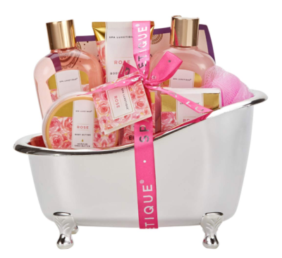 This is an image of a natural rose scent bath spa set for teens.
