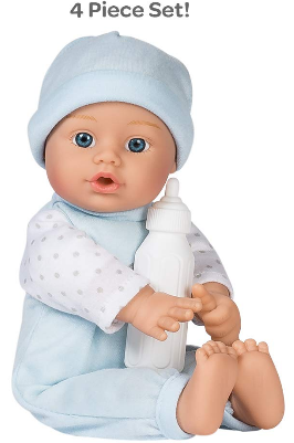 This is an image of kid's sweet baby boy in blue color
