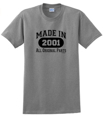 This is an image of a grey t-shirt for 18 years old boys.