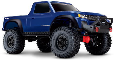 This is an image of kid's Traxxas 82024-4 TRX-4 Sport 4X4 1/10 Scale Crawler, Blue color