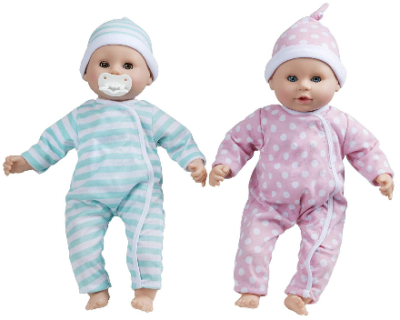 This is an image of kid's twins luke lucy dolls