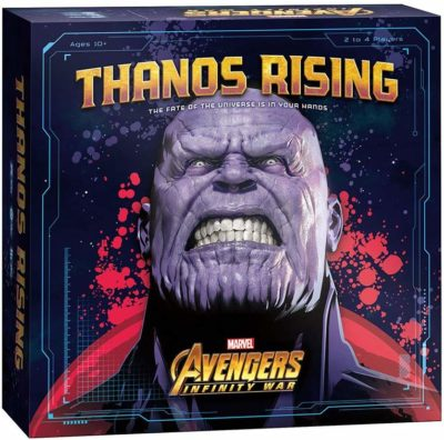 This is an image of a Thanos Rising cooperative board game for kids.