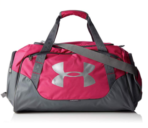 This is an image of a tropic pink gym bag for teens.
