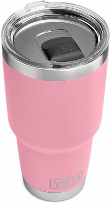 This is an image of a stainless steel pink tumbler for women.