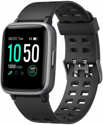 This is an image of a smartwatch compatible for android and iOS phones.