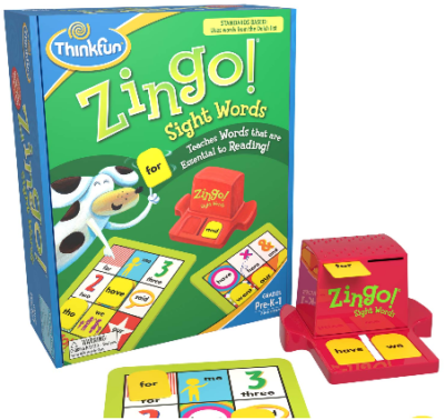 This is an image of kid's zingo sight words board game