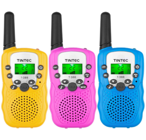 this is an image of tintec 3 pack walkie takies