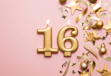 this is an image of 16th birthday decorations