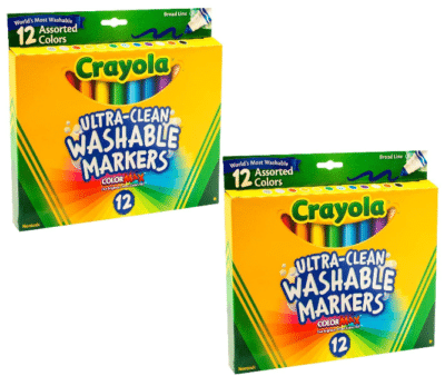 This is an image of babie's 2 pack washable markers