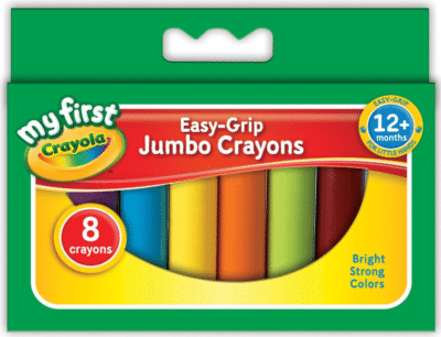 This is an image of kid's jumbo crayons in colorful colors