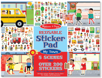 This is an image of kid's Sticker pad by melissa and doug