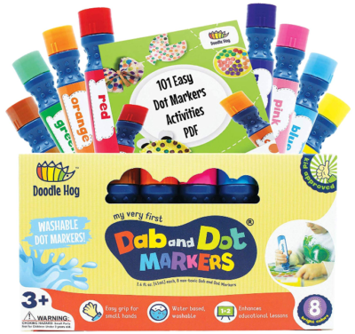 This is an image of kid's 8 colors markes pack set
