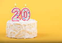 this is an image of a 20th birthday cake